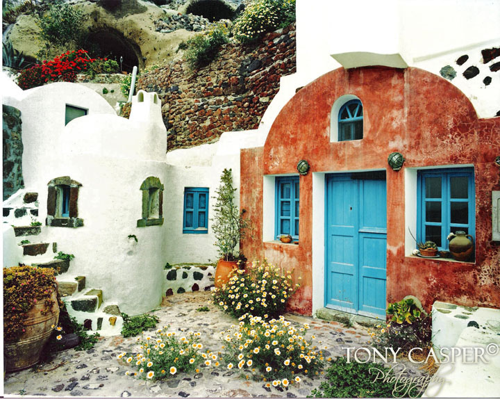 Santorini Blue Door