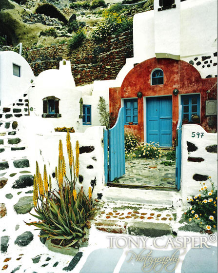 Santorini Blue Gate